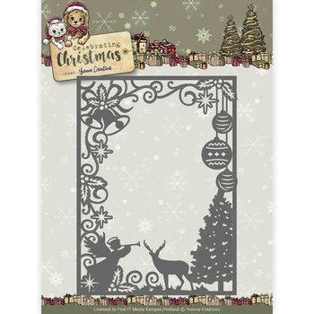 Die - Yvonne Creations - Celebrating Christmas- Scene Rectangle Frame