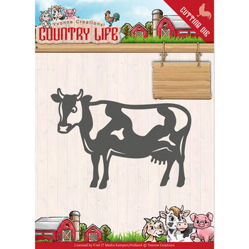 Dies - Yvonne Creations - Country Life Cow  YCD10128