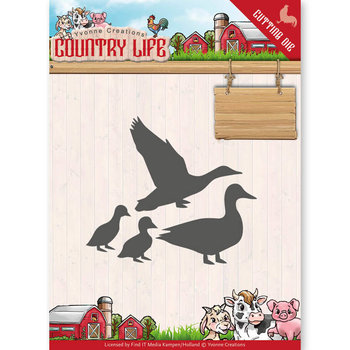 Dies - Yvonne Creations - Country Life Ducks  YCD10126