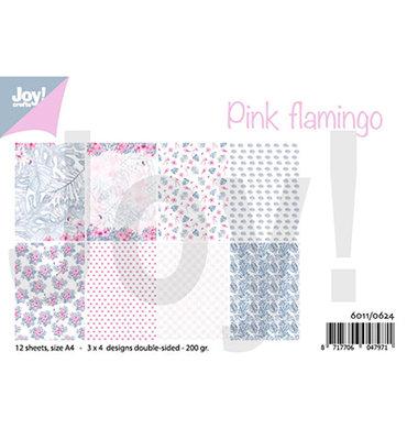 Joy! papierset -Pink flamingo 6011/0624