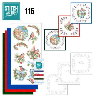 STDO115 Stitch and Do 115 Christmas Birds