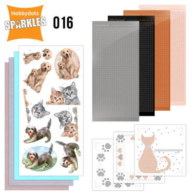 SPDO016 Sparkles Set 16 - Cats & Dogs
