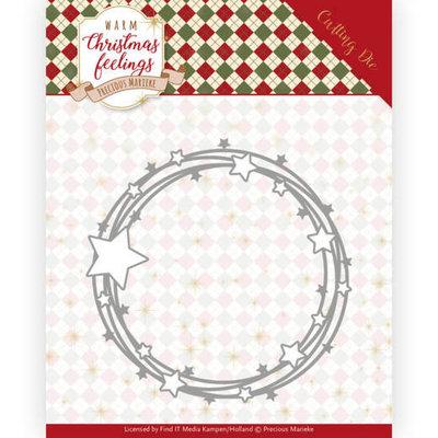 PM10161 Dies - Precious Marieke - Warm Christmas Feelings - Star Circle
