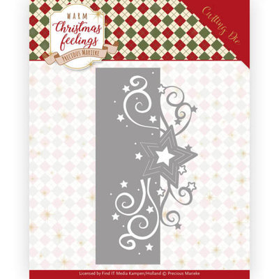 PM10160 Dies - Precious Marieke - Warm Christmas Feelings - Swirl Star Edge