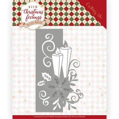 PM10159 Dies - Precious Marieke - Warm Christmas Feelings - Candle Edge