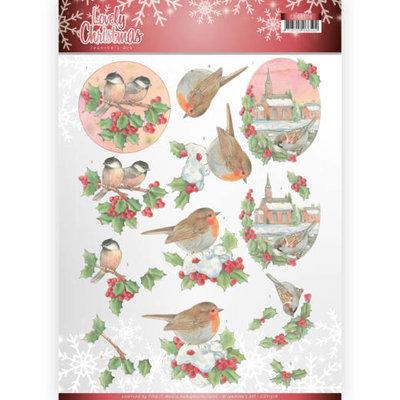 CD11378 3D Knipvel - Jeanine's Art - Lovely Christmas - Lovely Birds