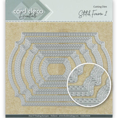 CDECD0034 Card Deco Essentials Cutting Dies Stitch Frame 2