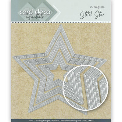 CDECD0032 Card Deco Essentials Cutting Dies Stitch Star