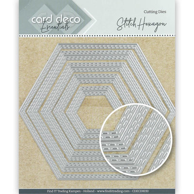 CDECD0030 Card Deco Essentials Cutting Dies Stitch Hexagon