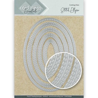 CDECD0028 Card Deco Essentials Cutting Dies Stitch Ellipse