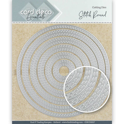 CDECD0027 Card Deco Essentials Cutting Dies Stitch Round