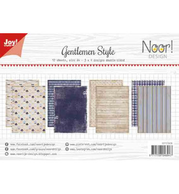 Joy! papierset -Noor Design -Gentlemen Style 6011/0636