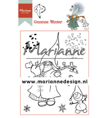Clear stamp - Hetty's Gnomes winter HT1648
