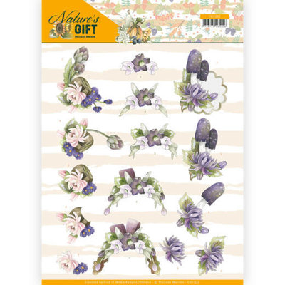 CD11352 3D knipvel - Precious Marieke - Nature's Gift - Purple Gift