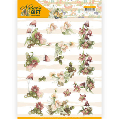 CD11349 3D knipvel - Precious Marieke - Nature's Gift - Red Gift