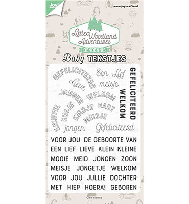 Joy! Clearstempel - LWA - Babytekstjes 6410/0514
