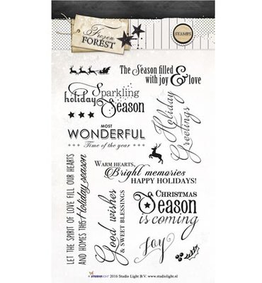Studio Light Clear Stempel, A6, STAMPFF150 - Frozen Forest nr.150