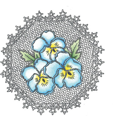 Marianne design, Clear Stamp  -  Pansies