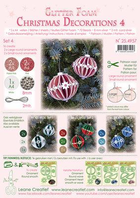 254.957 Glitter Foam Kerstbal decoratie Set 4, 5 vel A4