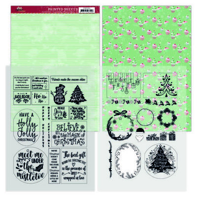 YCMC1004 Mica Sheets - Yvonne Creations - Family Christmas