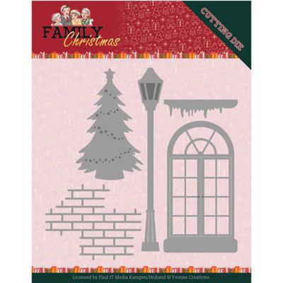 YCD10185 Dies - Yvonne Creations - Family Christmas - Christmas Window
