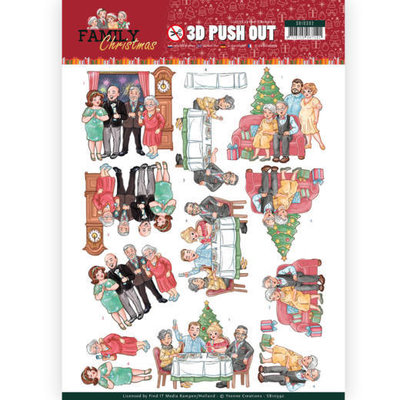 SB10392 3D Pushout - Yvonne Creations - Family Christmas - Happy Family
