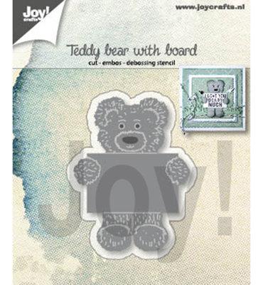 Joy! stencil- Teddybeer met notitiebord-6002/1308