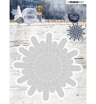 STENCILSA216 - Studio Light - Cutting and Embossing Die Cut, Snowy Afternoon nr.216