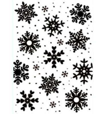 Nellie Snellen - Embossing template - 106x150mm Snowflakes