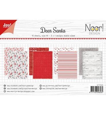 Joy! papierset -Noor Design -Dear Santa 6011/0626