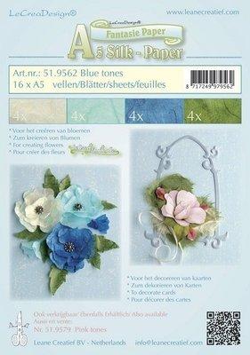 Silk paper ,  Blue