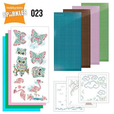 SPDO023 Sparkles Set 23 - Floral pink