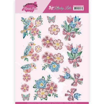 CD11422 3D Knipvel - Yvonne Creations - Kitschy Lala - Kitchy Flowers