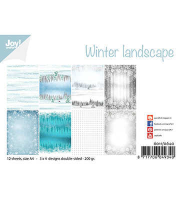 Joy! papierset -Noor Design - Winter landscape 6011/0640