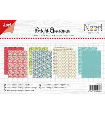 Joy! papierset -Noor Design - Design Bright Christmas 6011/0635