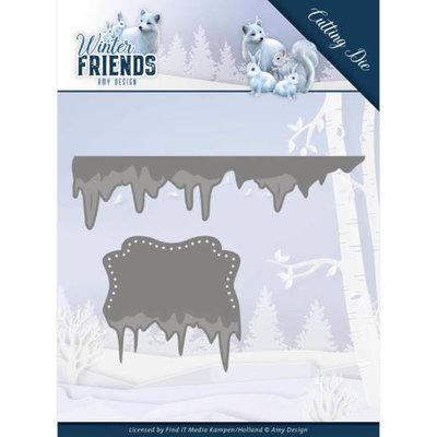 ADD10192 Dies - Amy Design - Winter Friends - Ice Border