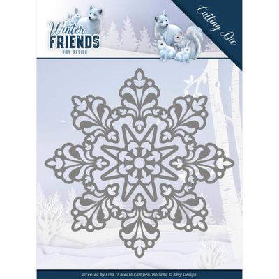 ADD10191 Dies - Amy Design - Winter Friends - Snow Crystal