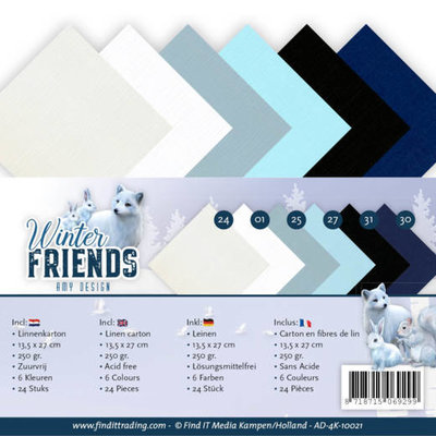 AD-4K-10021 Linnenpakket - 4K - Amy Design - Winter Friends