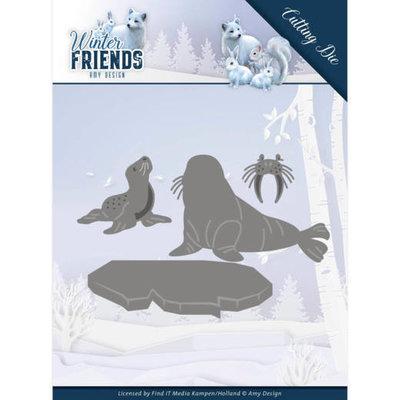 ADD10194 Dies - Amy Design - Winter Friends - Polar Friends