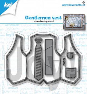 Joy! stencil- Heren gilet - 6002/1422