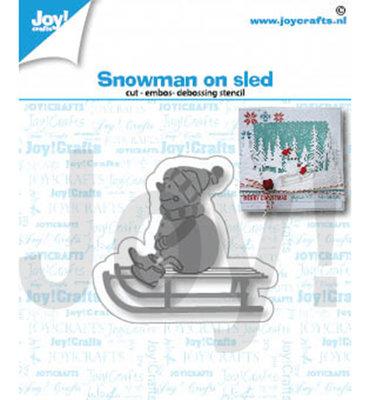 Joy! stencil-  Sneeuwpop op slee - 6002/1420