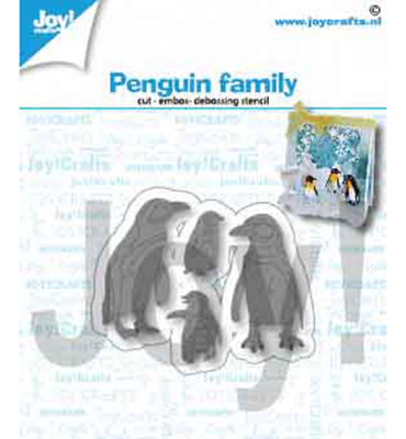 Joy! stencil-  Pinguïnfamilie  6002/1417