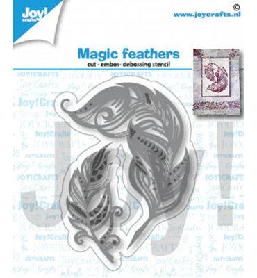 Joy! stencil- Magische veren - 6002/1404