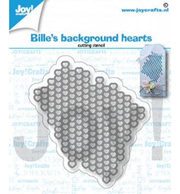 Joy! stencil- Bille harten achtergrond - 6002/1363