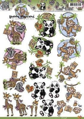 Yvonne creations giraffe, panda,aap, cd10348