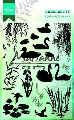 Marianne design, Clear stamp - Silhouette wetlands CS1017 -150mmx115 mm
