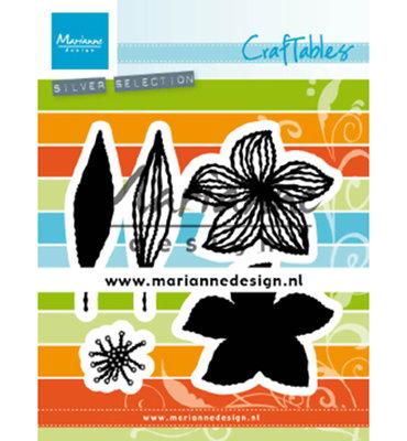 Marianne desgn - CR1493 - Craftables stencil - Open flowers