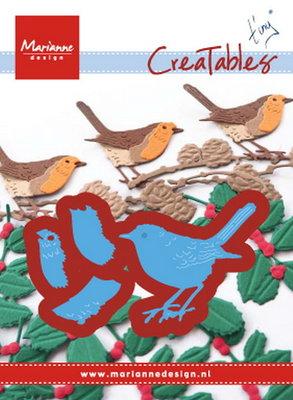 Marianne desgn - LR0509 - Creatables stencil - Tiny's Red Robin