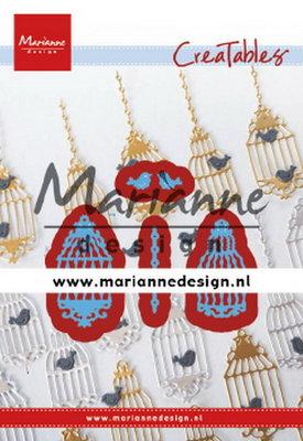 Marianne desgn - LR0509 - Creatables stencil - Birdcage (set)