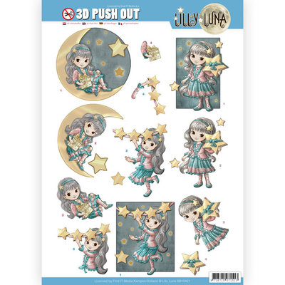 SB10421 3D uitdrukvel - Lilly Luna - Straal als een ster